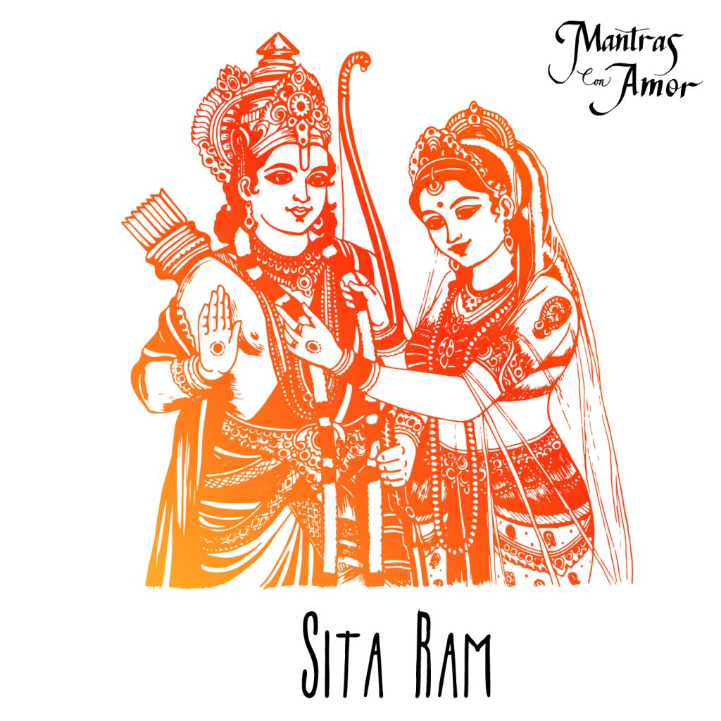 a hand made drawing of Sita Ram